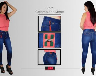 Jeans corte colombiano,tobillero para dama modelo 3329)