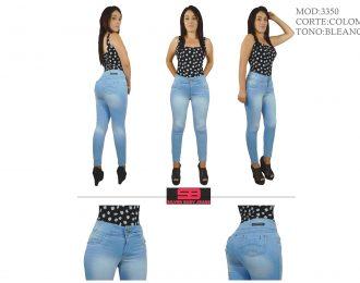 Jeans corte colombiano,tobillero para dama modelo 3350